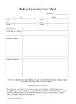 Hipaa Fax Cover Sheet Fax Cover Sheets