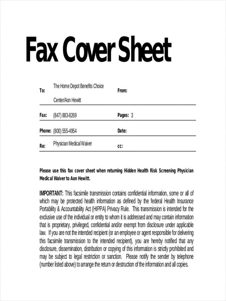 Hipaa Fax Cover Sheet Hipaa Fax Cover Sheet – Emmamcintyrephotography