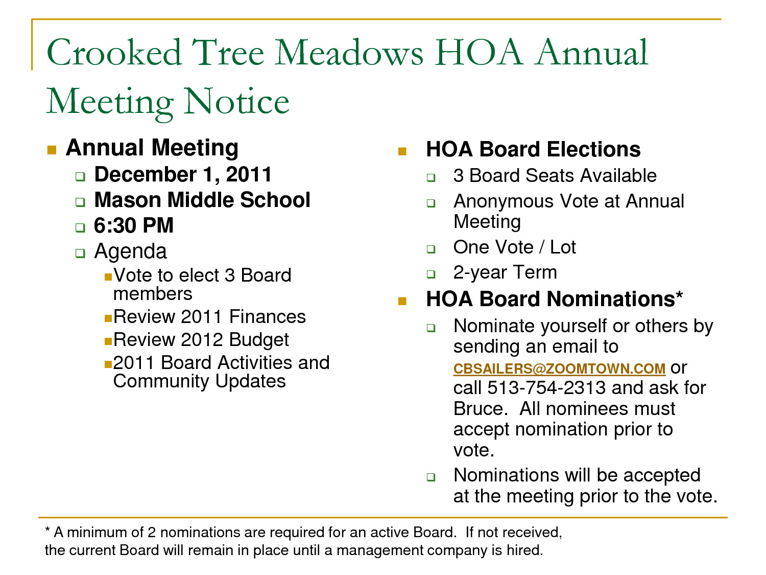 Hoa Meeting Minutes Template 26 Of Hoa Special Meeting Notice Template