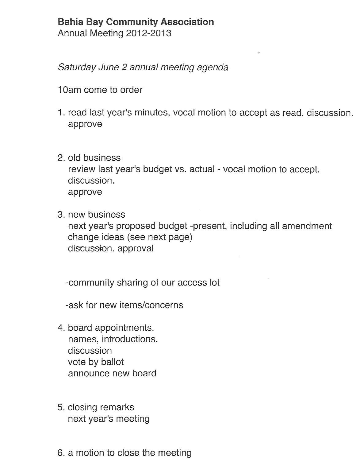 Hoa Meeting Minutes Template 27 Of Annual Hoa Meeting Agenda Template