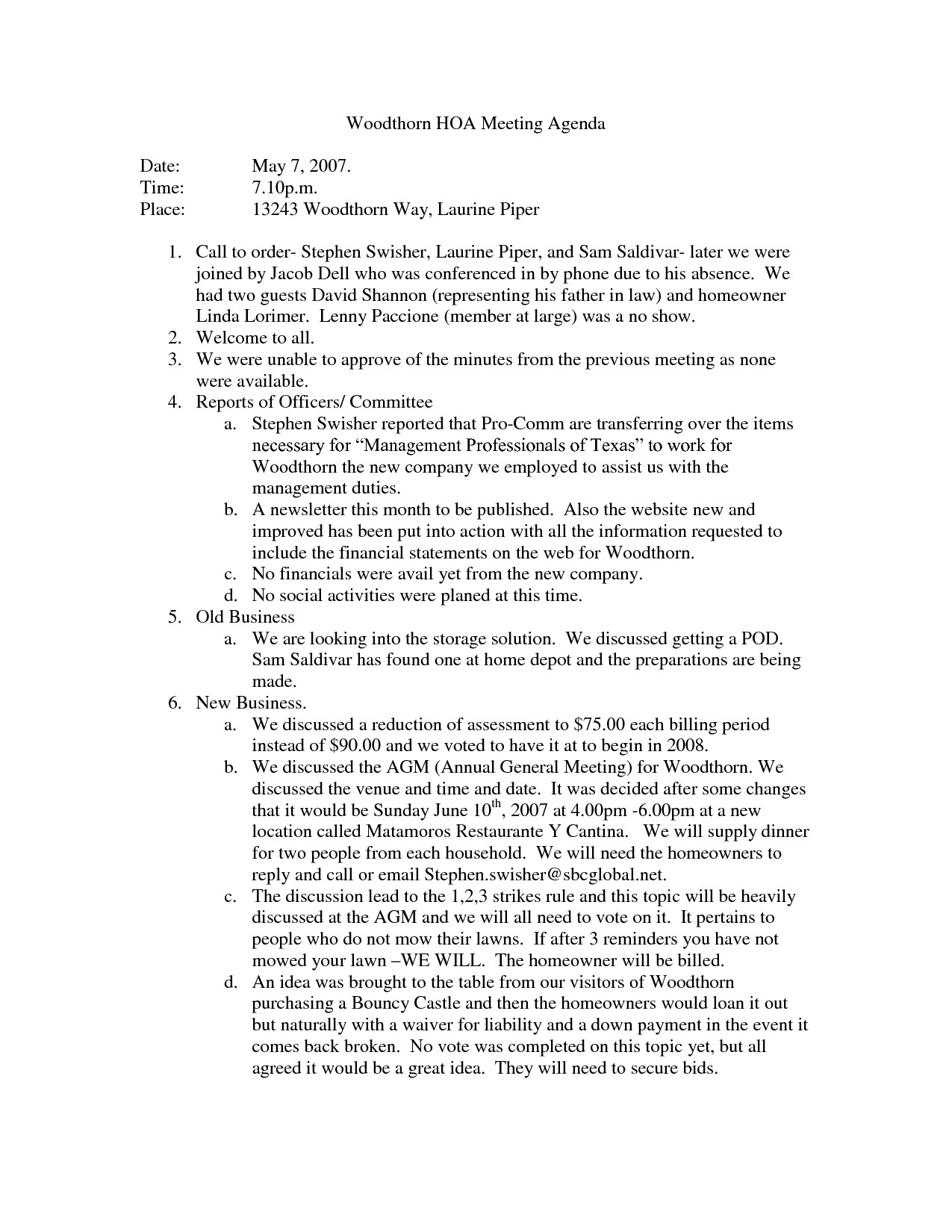 Hoa Meeting Minutes Template Best S Of Annual Board Meeting Template Staff