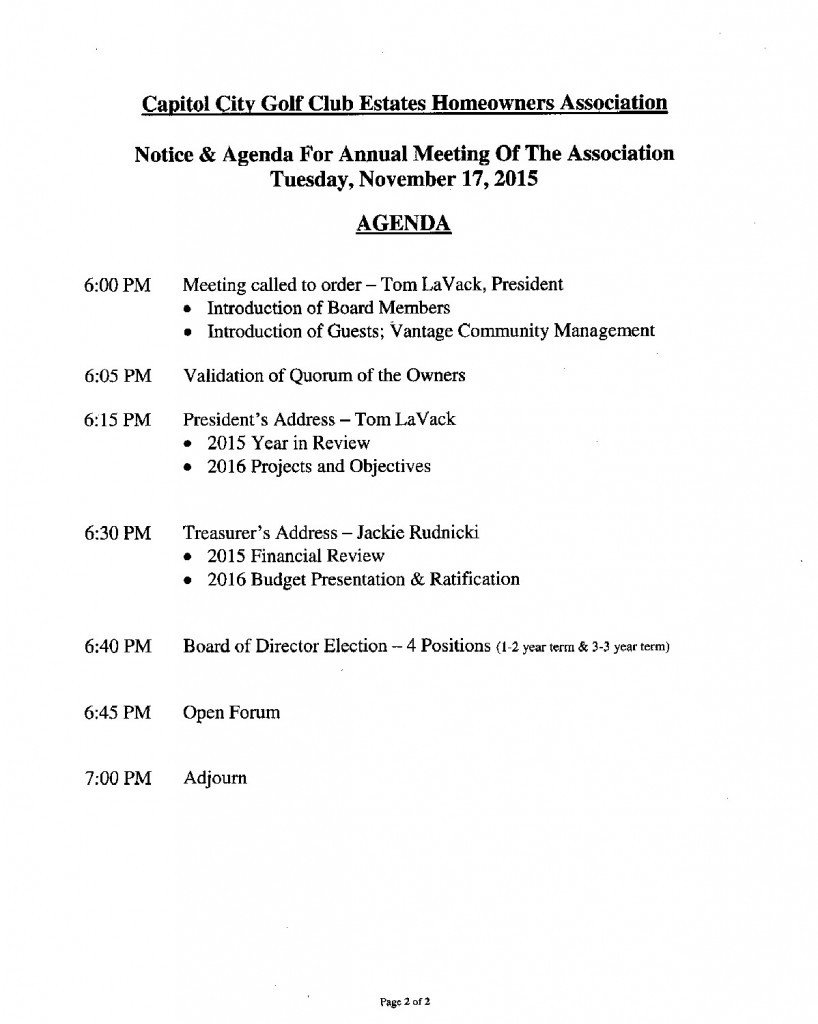 Hoa Meeting Minutes Template the 2015 Annual Ccgce Hoa Meeting In Lacey Wa