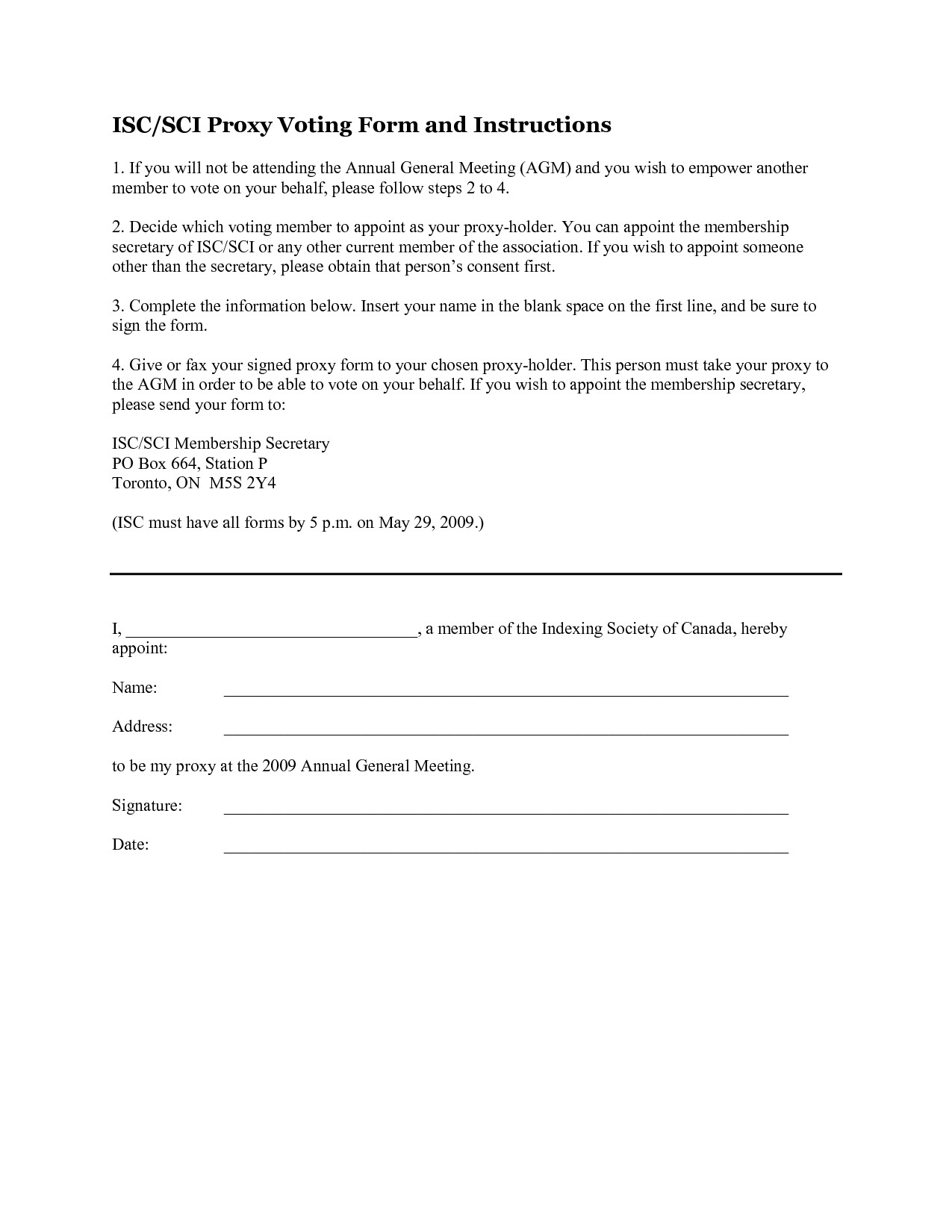 Hoa Proxy Vote form Template Dodoisthere — Proxy Vote form Template Hoa Proxy form