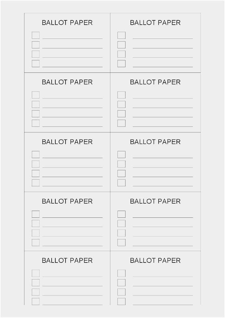 Hoa Proxy Vote form Template Free Pretty Free Ballot Template Free Download Sample 11
