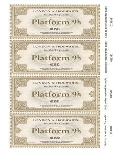 Hogwarts Express Ticket Template Free Harry Potter Hogwarts Express Ticket Template Plus
