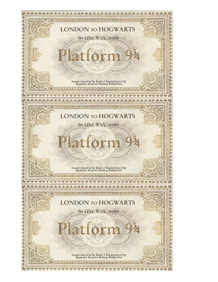 Hogwarts Express Ticket Template Harry Potter Hogwarts Acceptance Letter