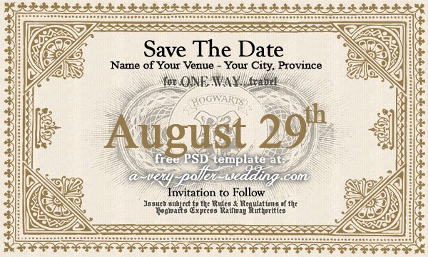 Hogwarts Express Ticket Template Hogwarts Express Save the Date Magnets