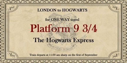 Hogwarts Express Ticket Template Hogwarts Express Ticket Hogwarts Pinterest