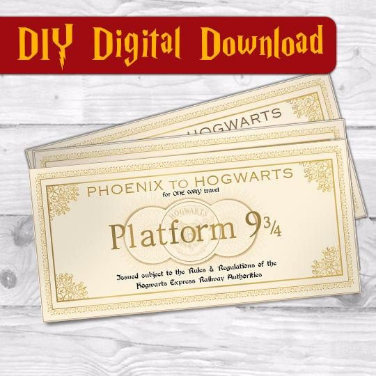 Hogwarts Express Ticket Template Hogwarts Ticket Hogwarts Express Harry Potter Ticket Harry