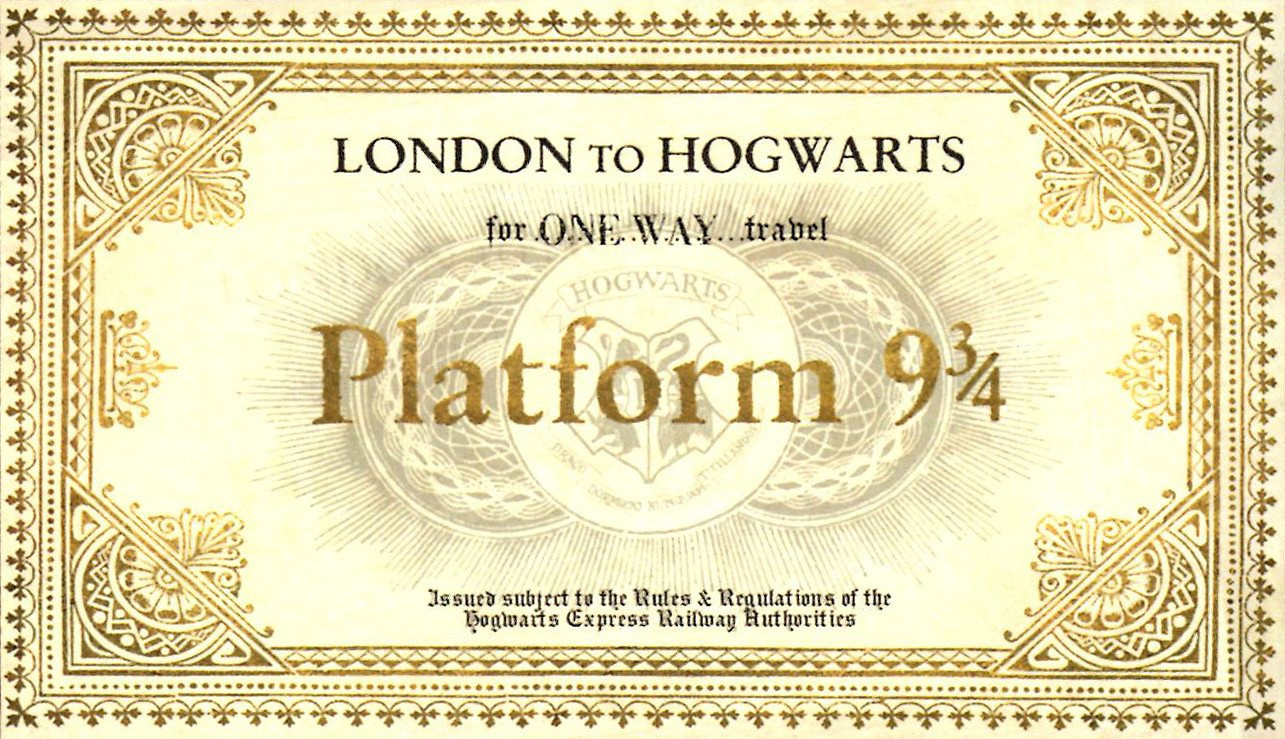 Hogwarts Express Ticket Template I've Got A Golden Ticket…