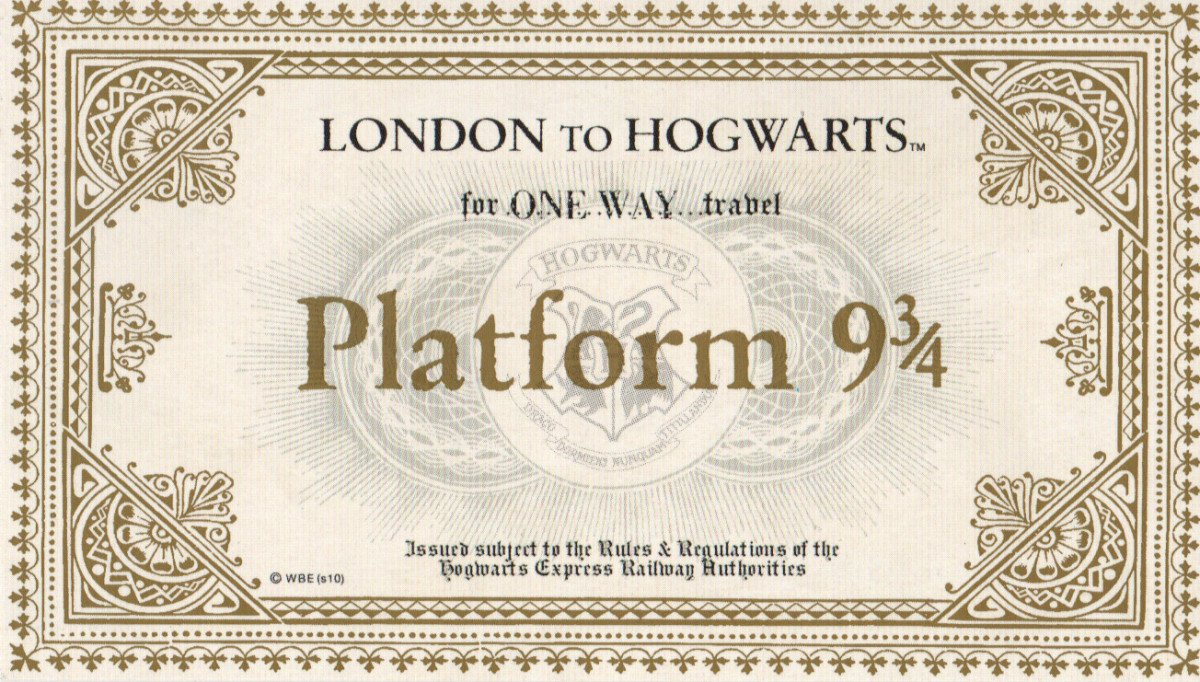 "Hogwarts Express Ticket Template ""last Call for Platform 9 3 4"" – 5 Days Left to Win Harry"