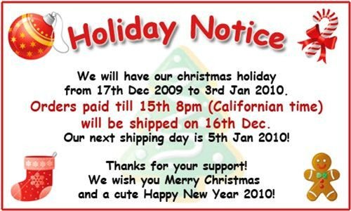 Holiday Closing Notice Template Holiday Notice
