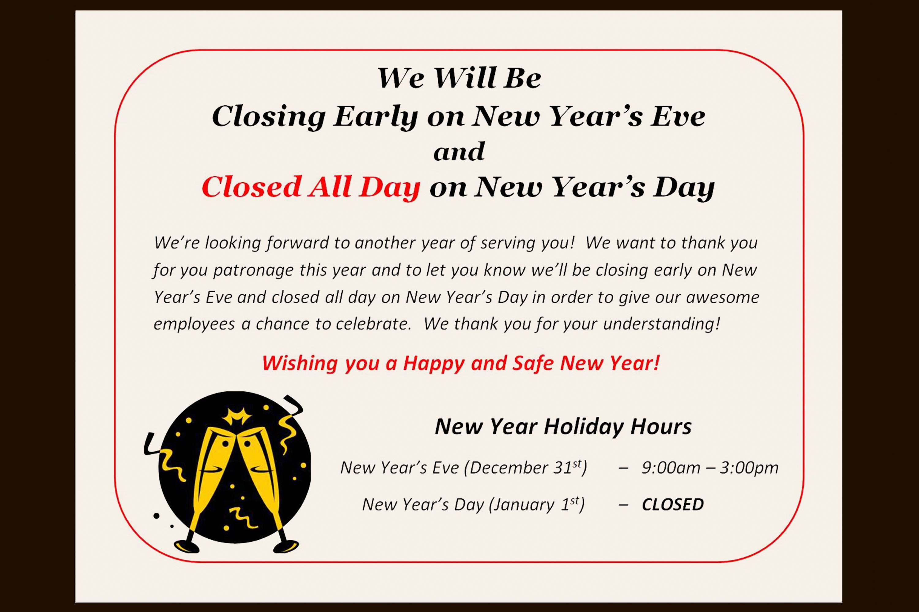 Holiday Closing Notice Template How to Post A Sign for the Observance Of A Holiday