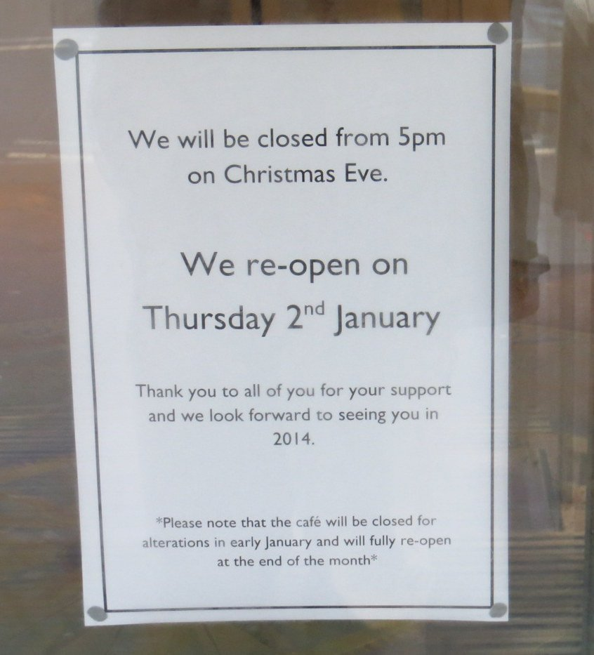 """Holiday Closing Notice Template """"why is the Pier Pavilion Closed """" – ask Winter Holiday"""