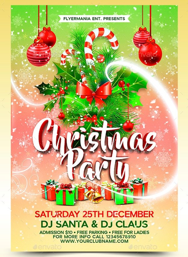 Holiday Party Flyer Template Free 20 Christmas Party Templates Psd Eps Vector format
