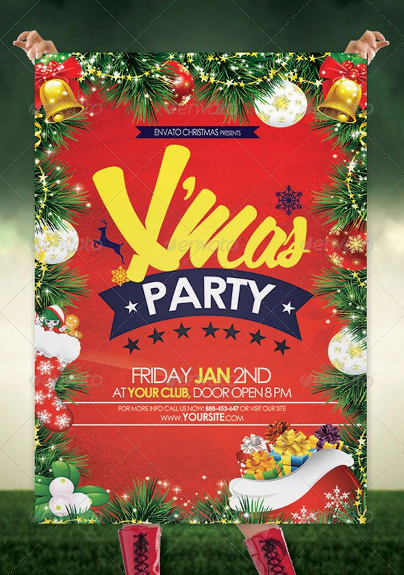 Holiday Party Flyer Template Free 25 Christmas & New Year Party Psd Flyer Templates 2019
