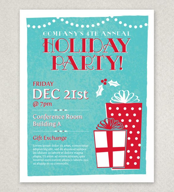 Holiday Party Flyer Template Free 27 Holiday Party Flyer Templates Psd