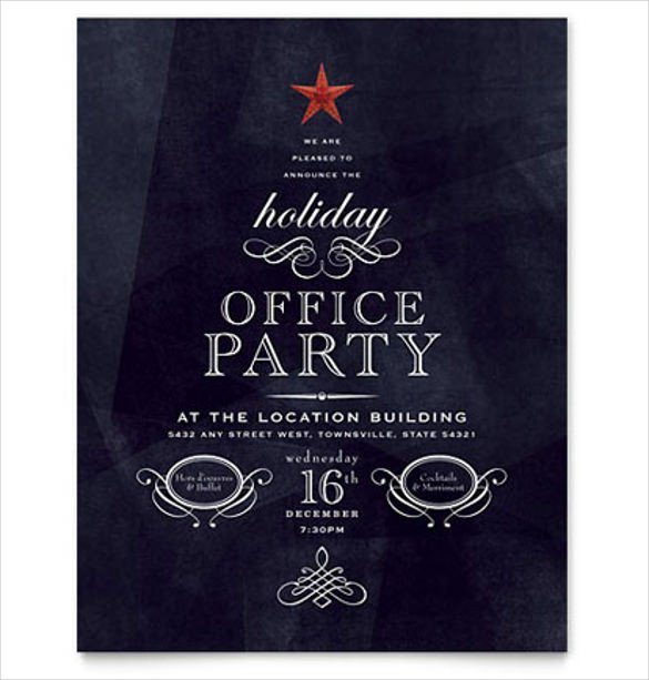Holiday Party Flyer Template Free 42 Party Flyer Templates In Word