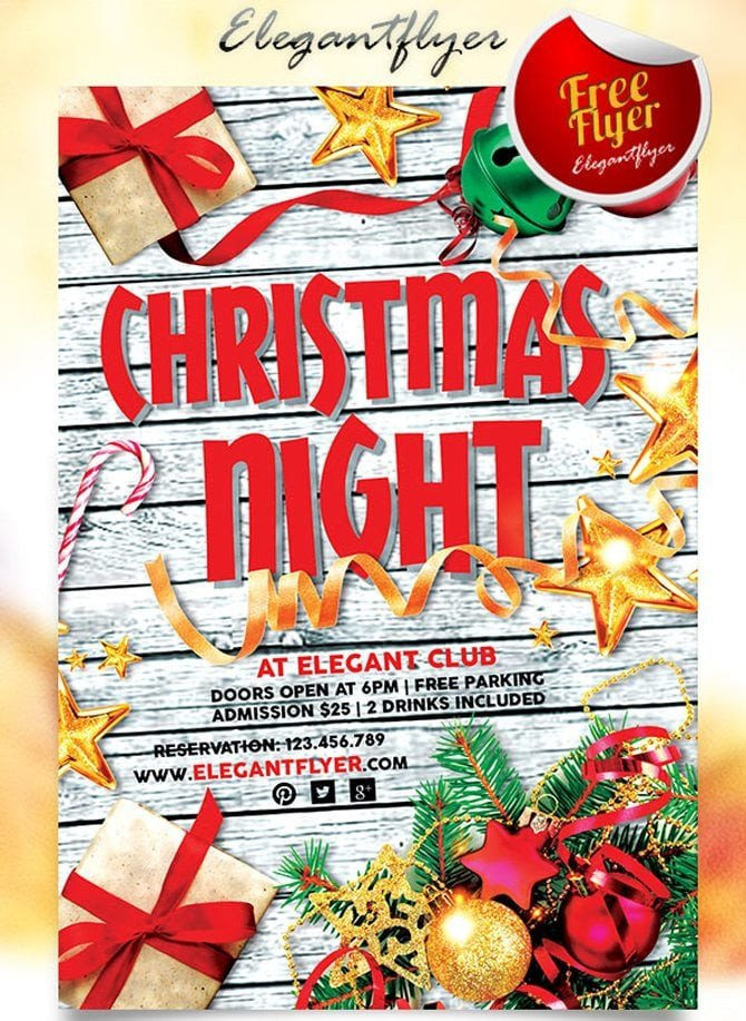 Holiday Party Flyer Template Free Best Free Christmas and New Year Psd Flyers to Promote