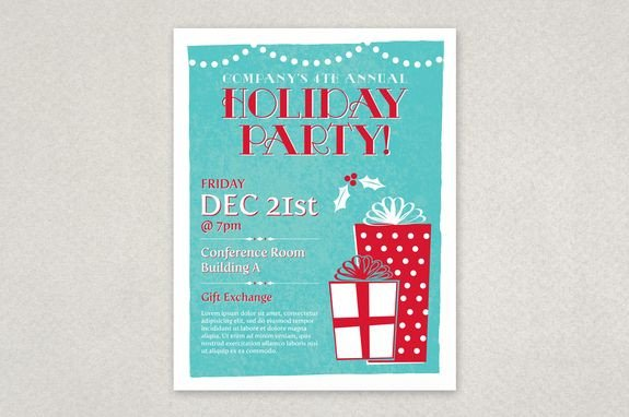 Holiday Party Flyer Template Free Classic Holiday Party Flyer Template Planning An Office