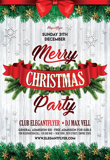 Holiday Party Flyer Template Free Free Christmas Flyer Templates In Psd