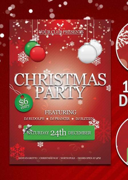 Holiday Party Flyer Template Free Free Party Flyer Template with Psd Set 3
