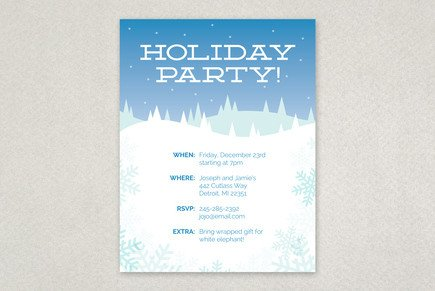 Holiday Party Flyer Template Free Winter Holiday Party Flyer Template