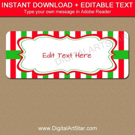 Holiday Return Address Labels Template Christmas Address Labels Printable Holiday Return
