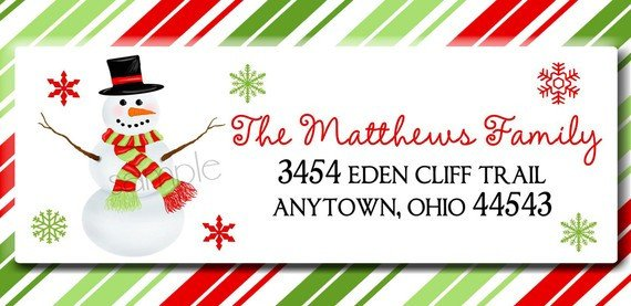 Holiday Return Address Labels Template Christmas Clip Art for Mailing Labels Clipart Collection