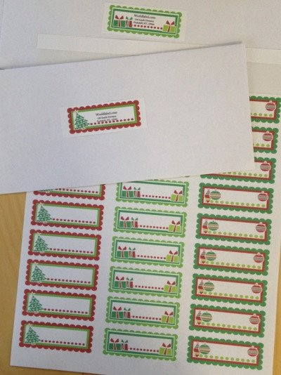 Holiday Return Address Labels Template Christmas Labels Ready to Print