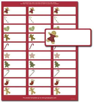 Holiday Return Address Labels Template Holiday Address Labels