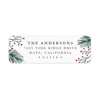 Holiday Return Address Labels Template Return Address Labels & Templates