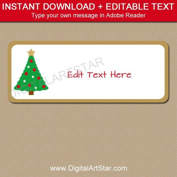 Holiday Return Address Labels Template Return Address Labels Christmas Address Labels Holiday
