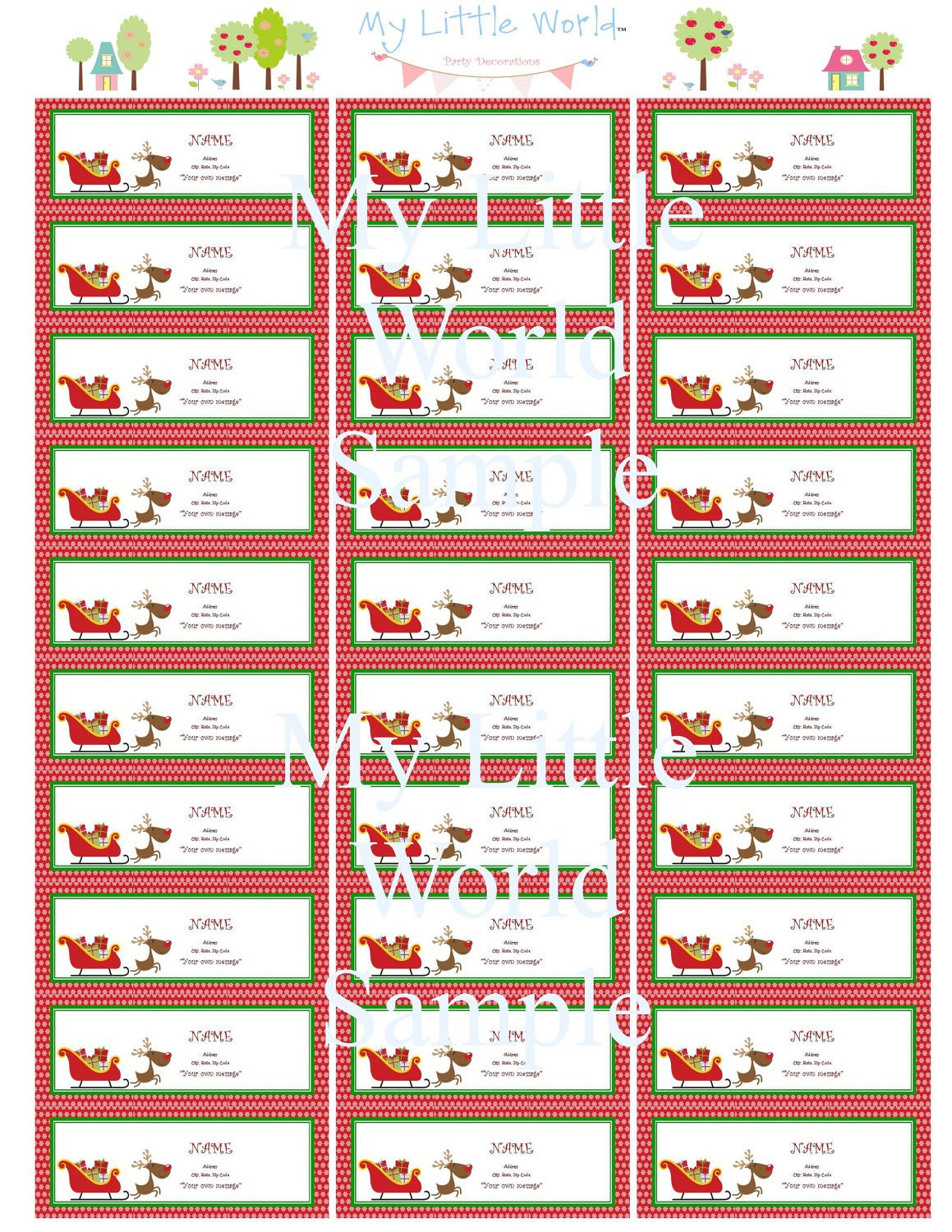 Holiday Return Address Labels Template Return Address Labels Merry Christmas Address Labels Holiday