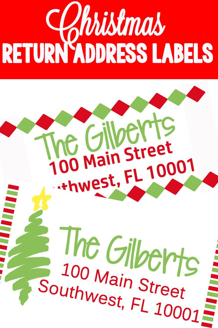 Holiday Return Address Labels Template Return Address Labels Title