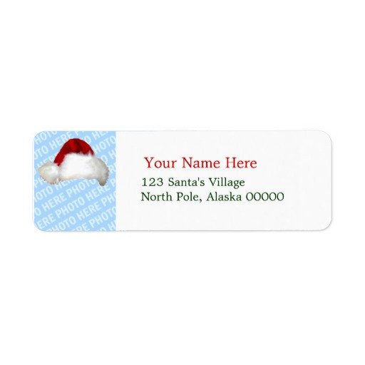 Holiday Return Address Labels Template Santa Hat Template Christmas Return Address Labels