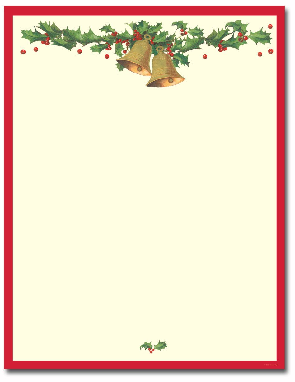 Holiday Stationary Templates Free Antique Bells Letterhead