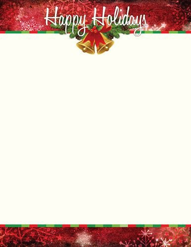 Holiday Stationary Templates Free Holiday Letterhead