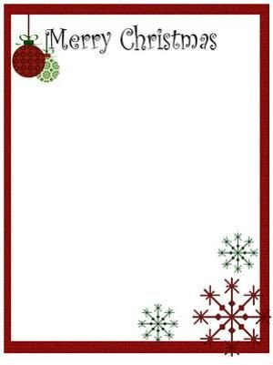 Holiday Stationary Templates Free Printable Christmas Stationery to Use for the Holidays Me