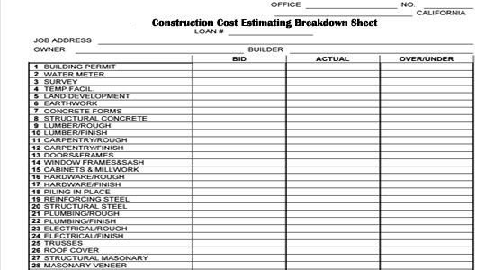 Home Building Checklist Template Pin by Angie Brooks On Construction forms In 2019