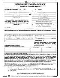 Home Improvement Contract Template Free Print Contractor Proposal forms