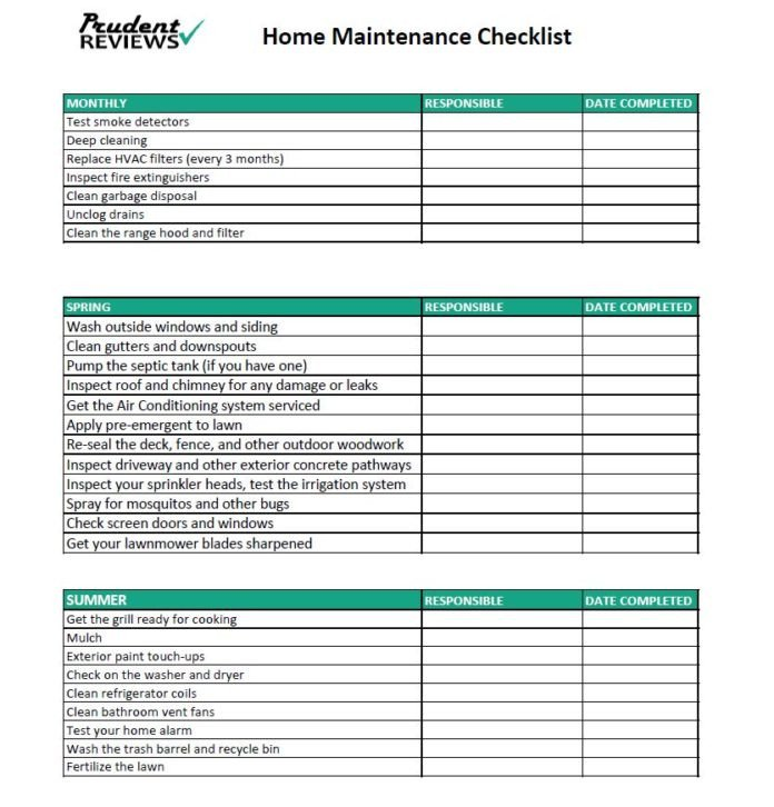 Home Maintenance Checklist Printable the Ultimate Home Maintenance Checklist Printable
