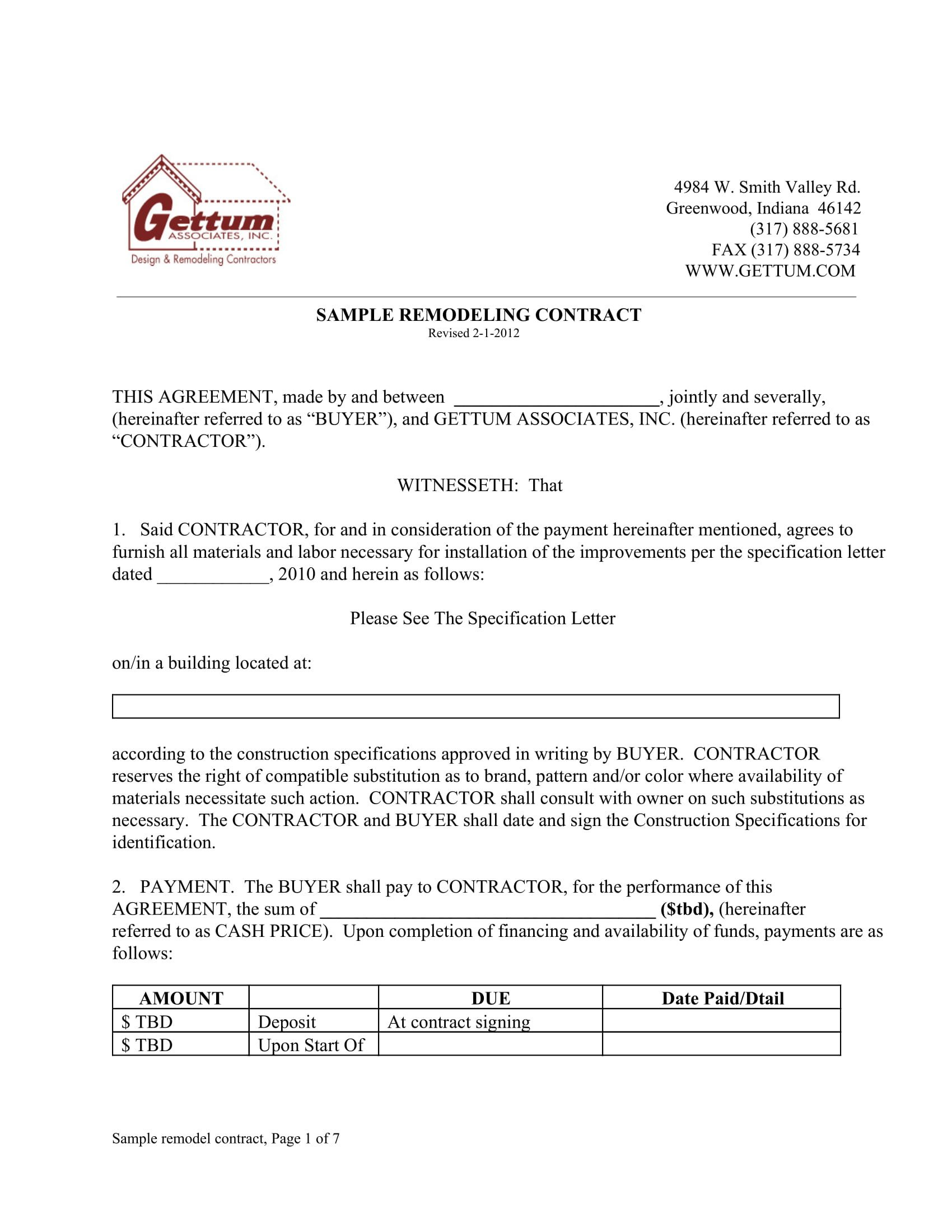 Home Remodeling Contract Template 10 Bathroom Renovation Contract Template Examples Pdf