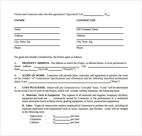 Home Remodeling Contract Template 10 Remodeling Contract Templates Pages Docs