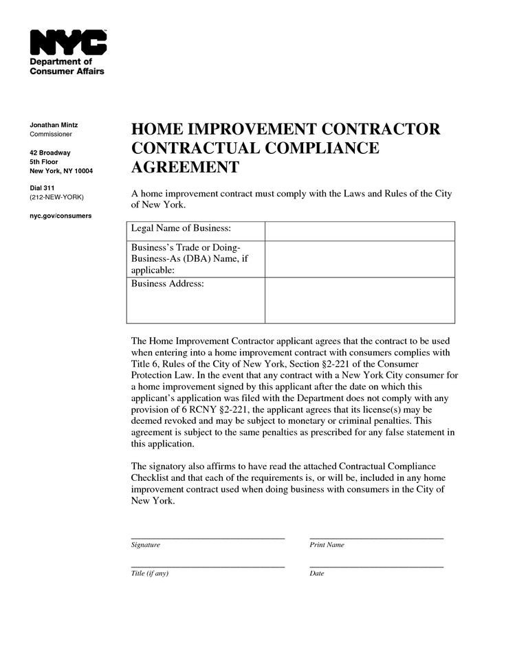 Home Remodeling Contract Template Home Improvement Contract Sample Info On Financing Home