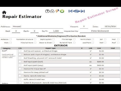 Home Remodeling Cost Estimate Template Free Home Renovation Cost Estimator Spreadsheet for Real