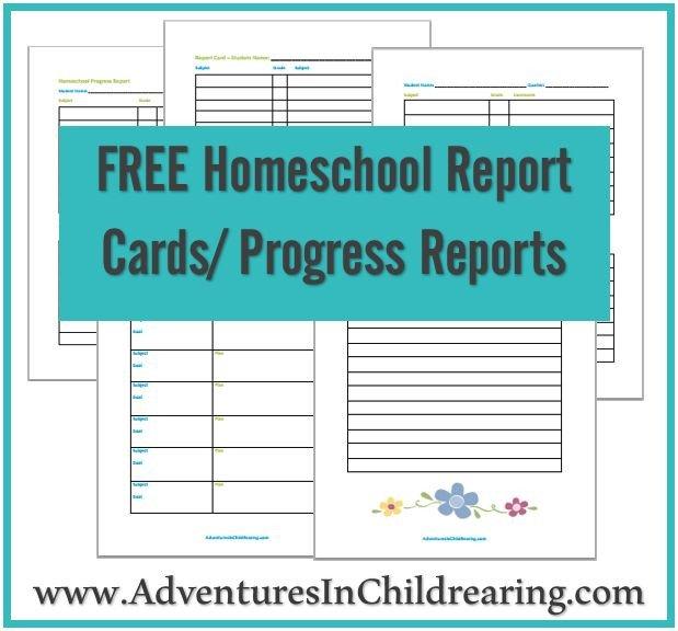 Homeschool Report Card Template Free Free Homeschool Printable Progress Report and Report Card