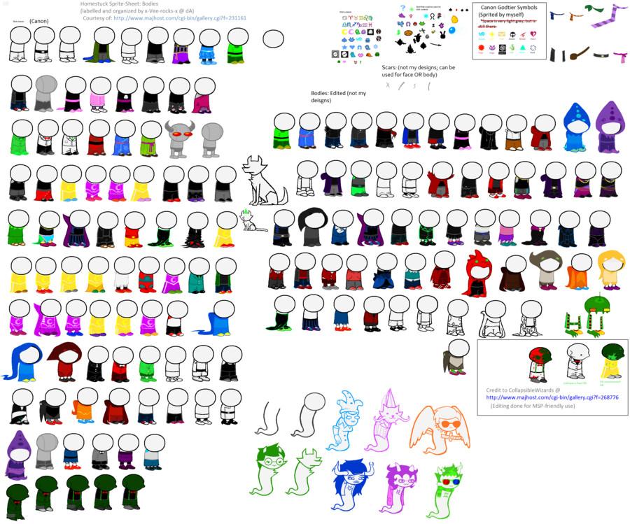 Homestuck Sprite Template Homestuck Body Spritesheet Updated by X Vee Rocks X On
