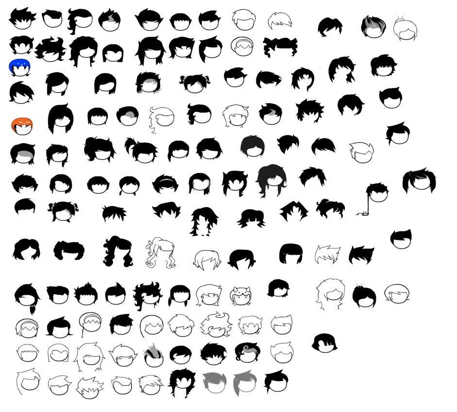 Homestuck Sprite Template Homestuck Hair Sprite Sheet by Blahjerry On Deviantart
