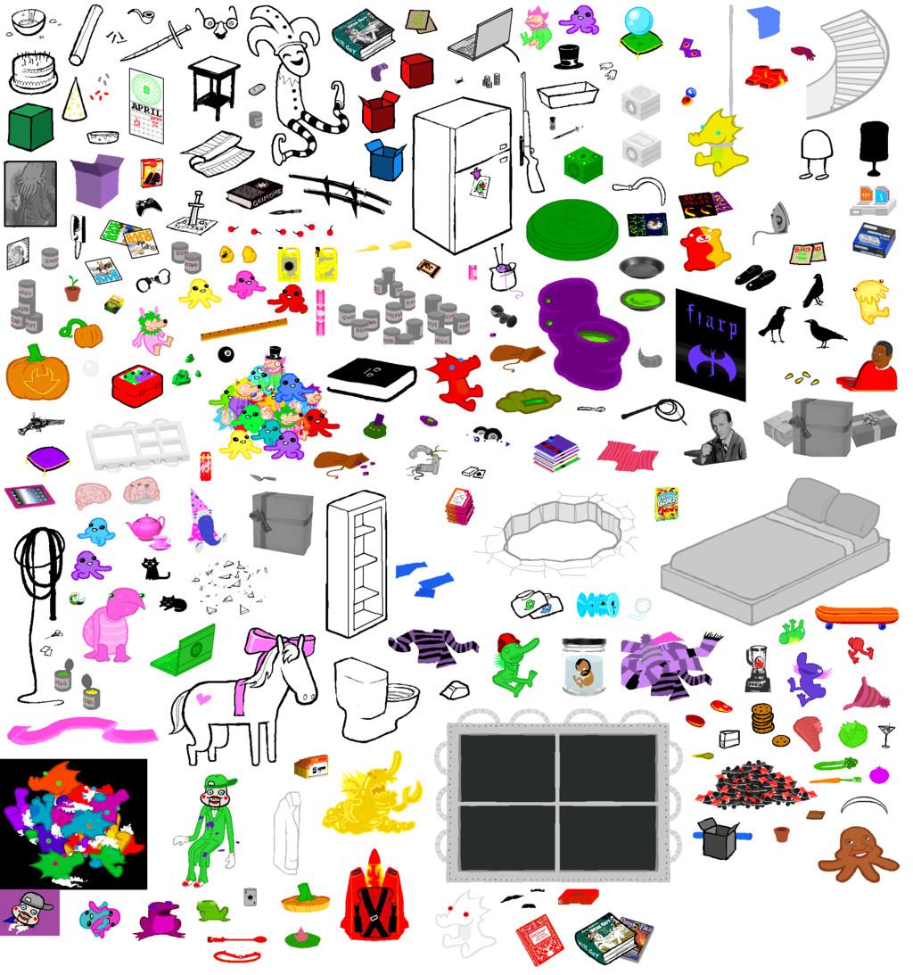 Homestuck Sprite Template Hs Room Item Sheet by Fryingpanismyweapon On Deviantart